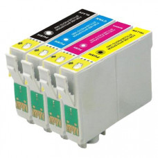A set of pre-filled Epson Compatible T2996 dye sublimation ink cartridges.