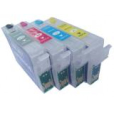 A set of pre-filled Epson compatible T1285 dye sublimation ink cartridges.
