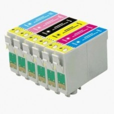 A set of pre-filled Epson Compatible T0797 dye sublimation ink cartridges.