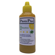 100ml of Yellow Epson Compatible  Sublimation Ink -  PhotoPlus Brand.