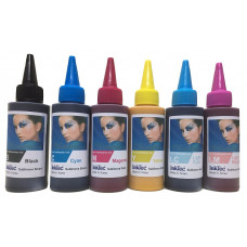 600ml Epson Compatible Dye Sublimation Ink, 100ml each of Bk,C,M,Y, LC, LM - InkTek Brand.