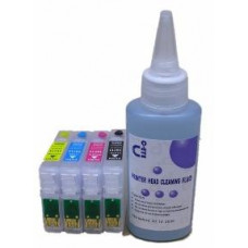 Sublimation Cleaning Cartridge Kit for Printer Models using Epson T0615 Cartridges.