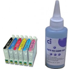 Sublimation Cleaning Cartridge Kit for Printer Models using Epson T0487 Cartridges.